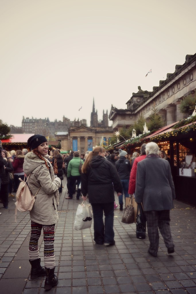 Edinburgh Christmas market 2013