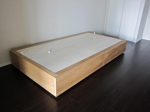 MUJI 無印良品 ベッドフレーム下収納・大・オーク材 幅80cm