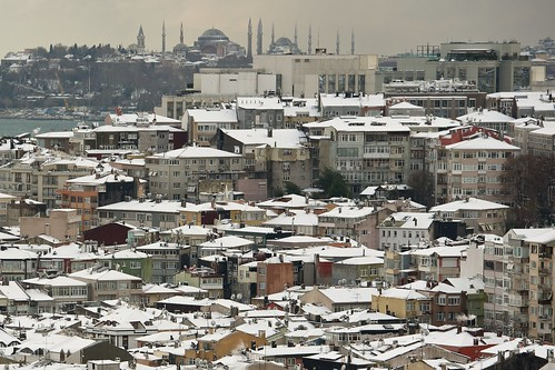 Snow on Sultanahmet
