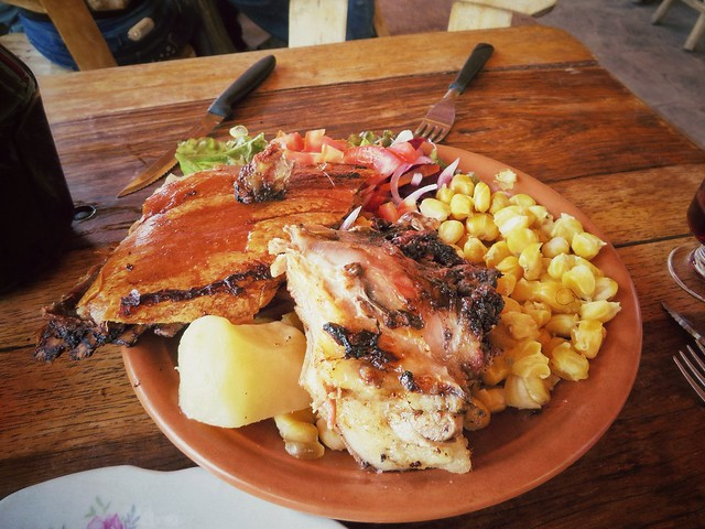 Plate of roast pork, Concepcion