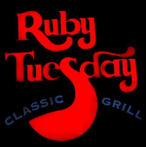 Ruby Tuesday neon sign