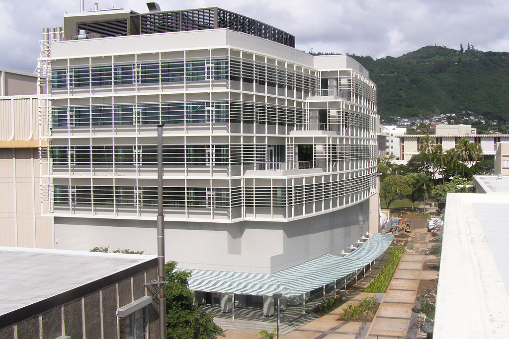 <p>View of the Information Technology Center from Watanabe Hall.</p>