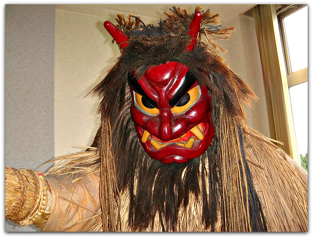 Namahage Display at hotel in Oga, Akita (Japan) 3