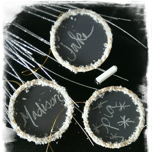 Chalkboard ornaments or use them as tags or place cards!