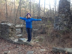 Kathryn at Sope Creek Pulp Mill Ruins