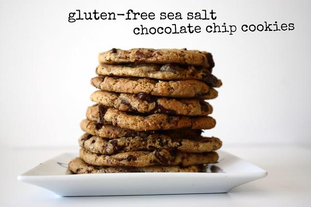 Gluten-Free Sea Salt Chocolate Chip Cookies by cocinadecella.com