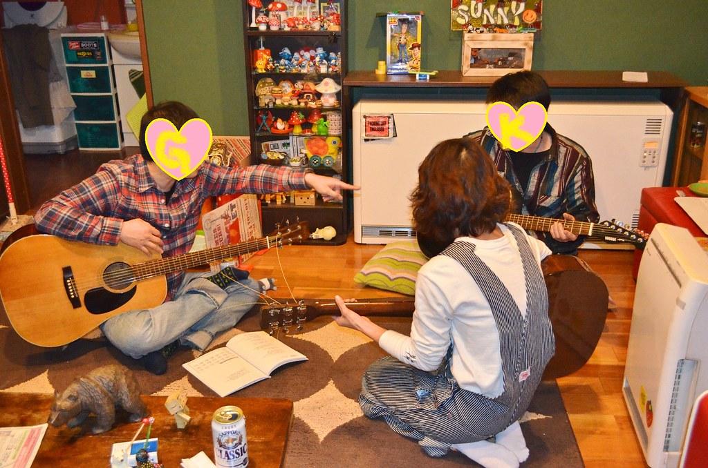 Gさん誕生日サニー家ギター教室。 (5)-1