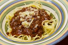 bucatini, spaghetti, pasta, bolognese sauce, produce, pici, food, dish, european food, cuisine,