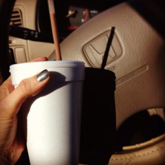 Yummy shake! Don't be jealous of my 98 Honda. <img src=