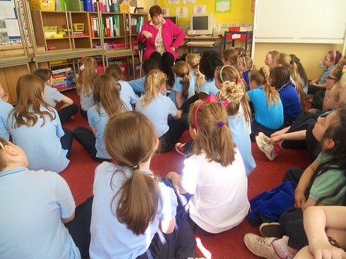 Storytelling on Multicultural Day at the St Louis Girls National School in Monaghan