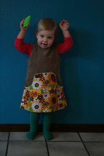 Louisa kleedje voor Nina