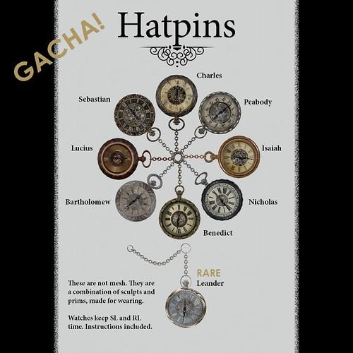 Hatpins Gacha Poster - Watches