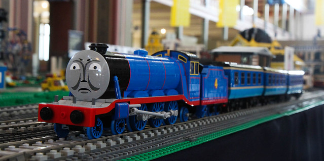 Ryan's Gordon on the main train layout at Brickvention