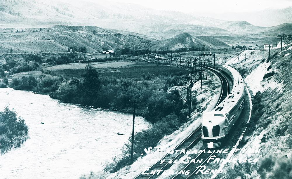 S.P. Streamline Train, 'City of San Francisco' entering Reno