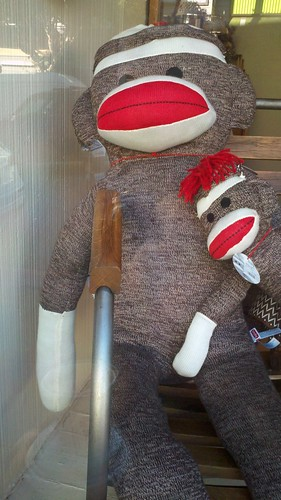 mama and baby sock monkey ...