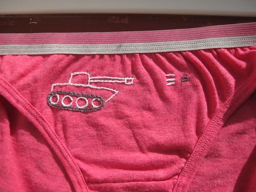 Pink tank pants