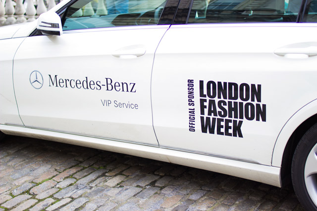 London Fashion Week official car