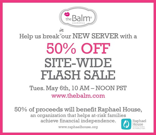 the balm cosmetics sale 50% 50 % off sales makeup online