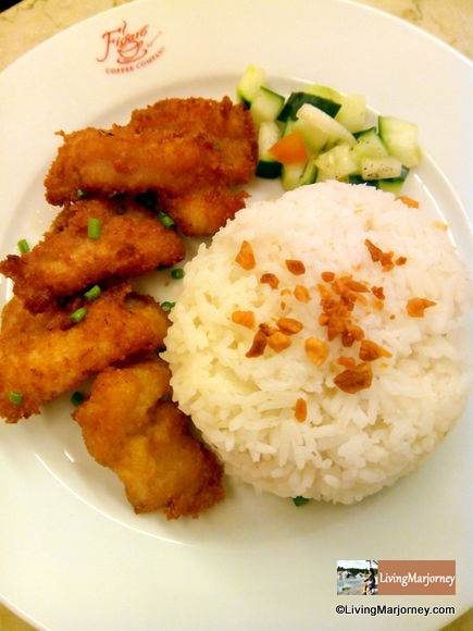 Breaded Fish with Plum Sauce