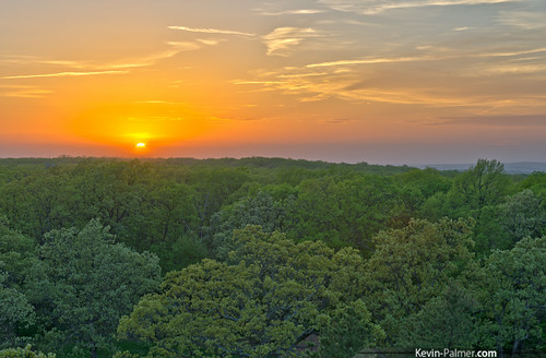 statepark trees sunset sky orange sun west green yellow gold golden evening spring colorful view scenic may missouri ozarks hdr ironton kevinpalmer tamron1750mmf28 firelookouttower taumsaukmountain saintfrancoismountains pentaxk5