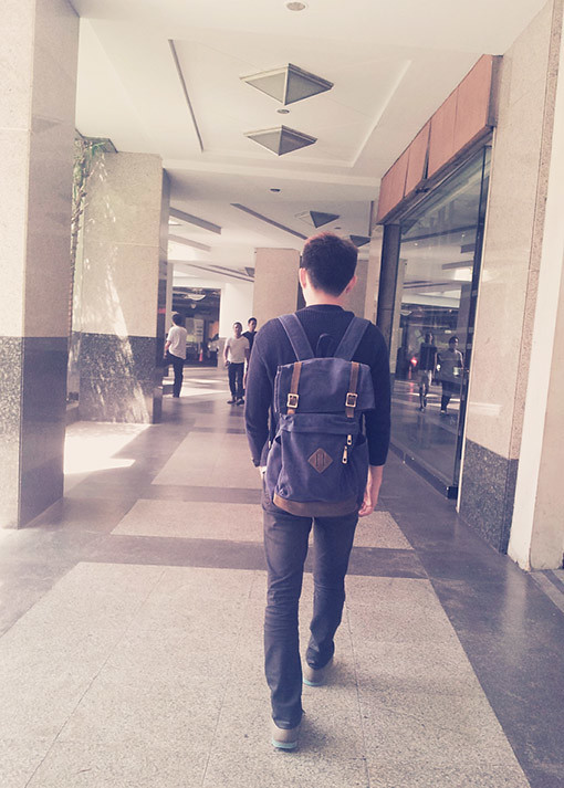 ezra backpack for guys, korean inspired