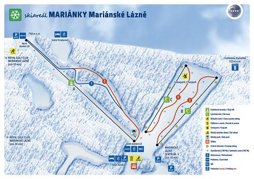 Mariánské Lázně - mapa sjezdovek