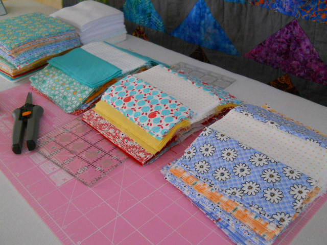1/3 of 144 cracker quilt blocks