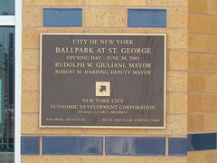 Commemorative Plaque for Richmond County Bank Ballpark at St. George -- Staten Island, NY, June 28, 2014