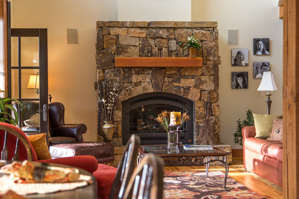 fireplace, homestead court, mountain home for sale, steamboat springs real estate,
