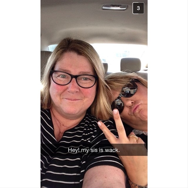 Janet and I didn't have ANY fun last weekend. #snapchatforkatie