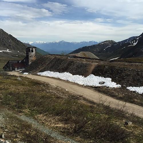 #alaska #ak #midnightsun #mountains #gold #mine #tundra #wilderness