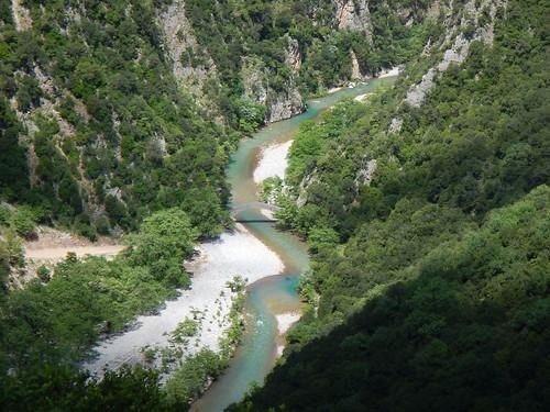 griechenland greece steinbrücke fluss brücke