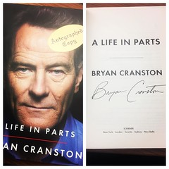 Last night was awesome - not to mention we got signed copies of his new memoir, can't wait to start it today #bryancranston #breakingbad #alifeinparts #malcominthemiddle #walterwhite