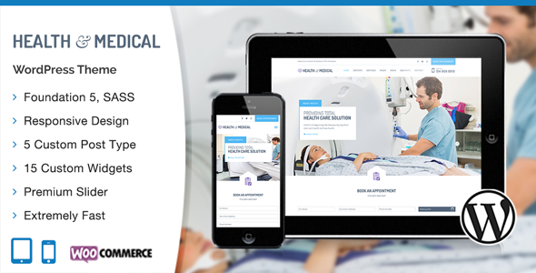 HealthMedical v1.0.6 - Medical WordPress Theme