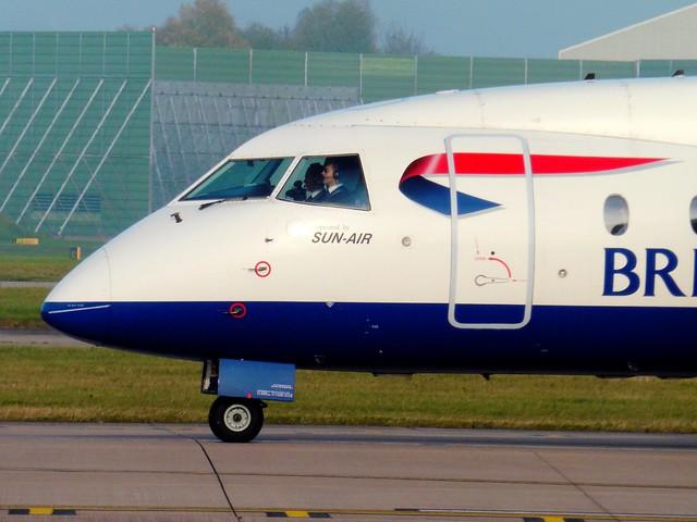 Sun Air / British Airways OY-NCU - Manchester