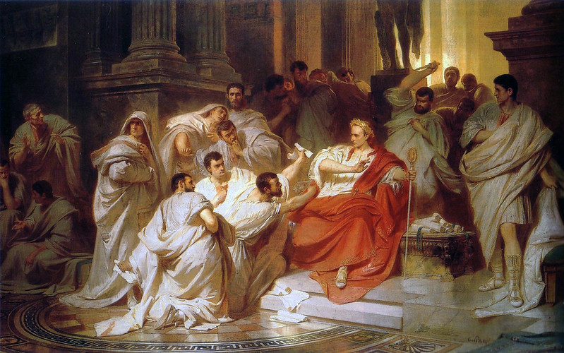 """The Murder of Caesar"", by Karl von Piloty"