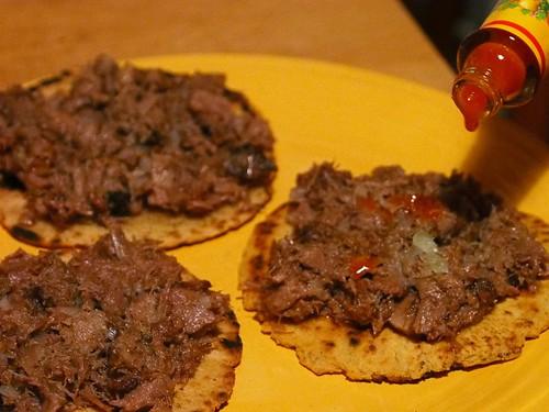 Hot Sauce on Tongue Taco