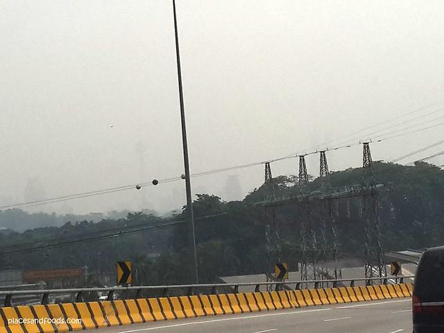 haze in kuala lumpur from far