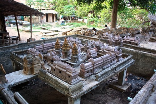 and reproductions of Angkor Wat itself