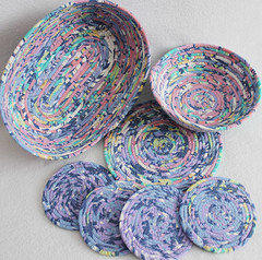 purple pink pizzazz coiled items