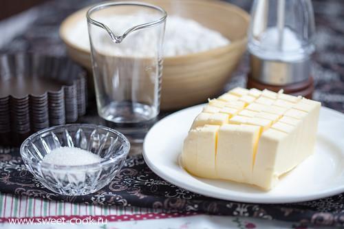 Ингредиенты для песочного тесто для тарталеток