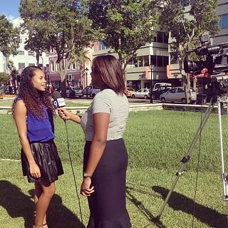 TV interviews  #lifeinevents #citylife #behindtherunway