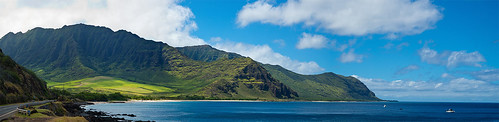 ocean road usa mountains hawaii pacific oahu sunny westcoast