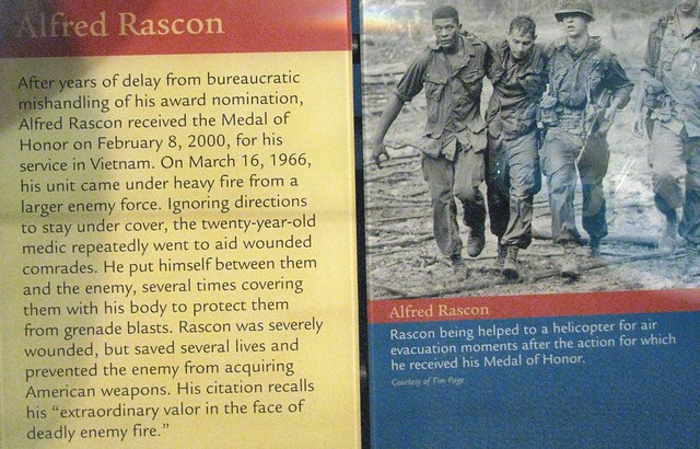 NMAH201 - American - Medal of Honor - Vietnam War - Medic Specialist Four Alfred Rascon on March 16, 1966 in Vietnam