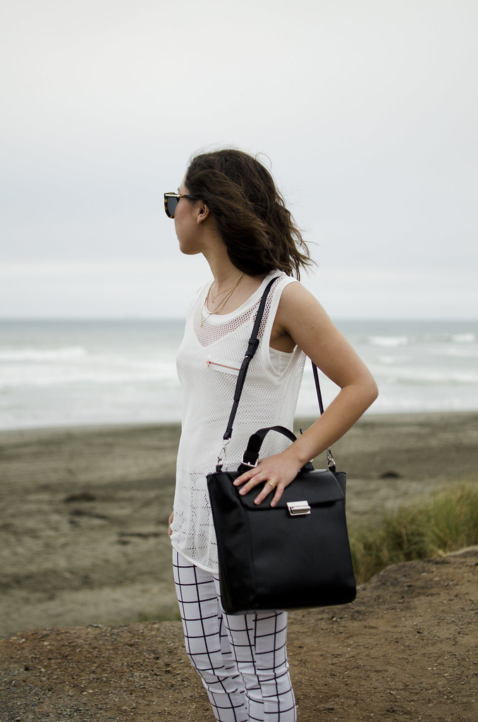 zara bag, black satchel, mesh shirt, how to style, san francisco fashion blog