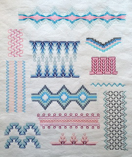 Huck Weaving Sampler FO