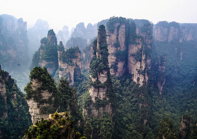 Rock formation, Zhangjiajie, China