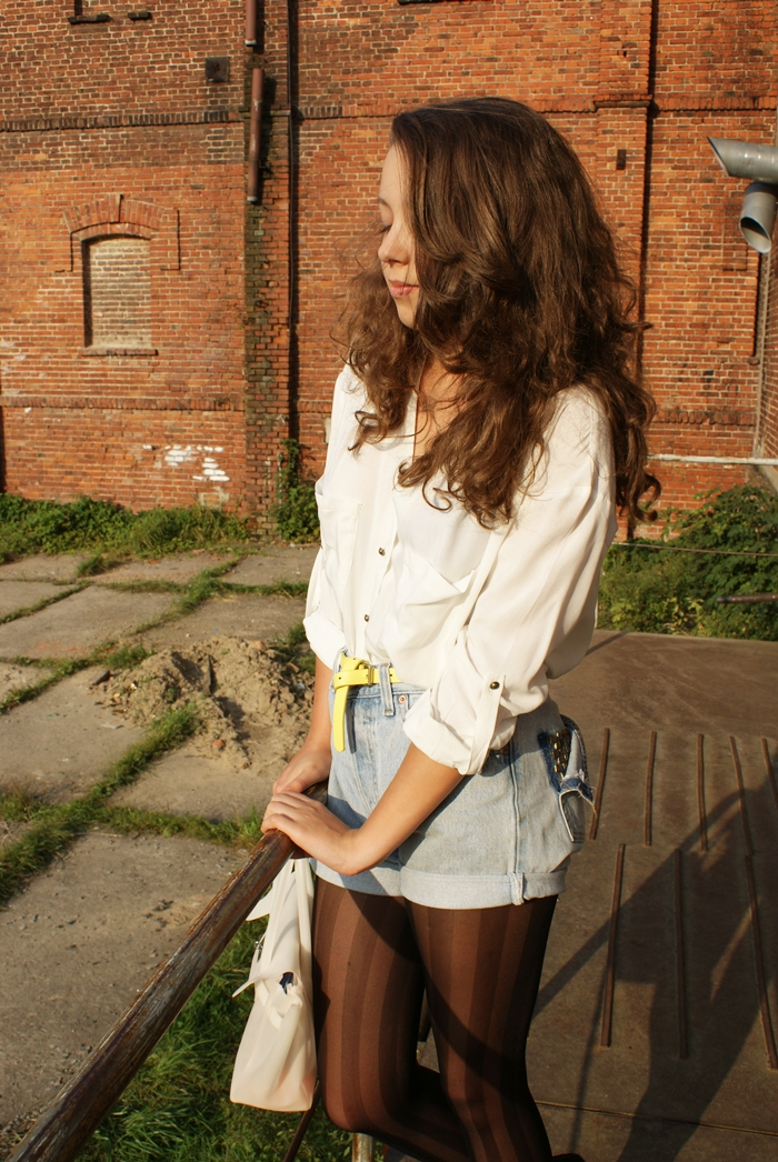jeansowe spodenki vintage