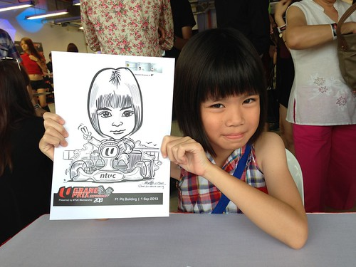 caricature live sketching for NTUC U Grand Prix Experience 2013 - 16