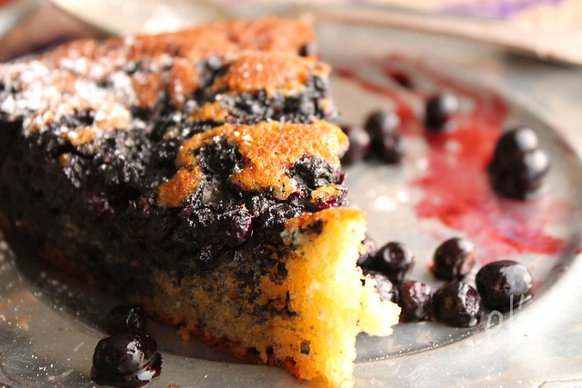 Gâteau au yaourt aux myrtilles
